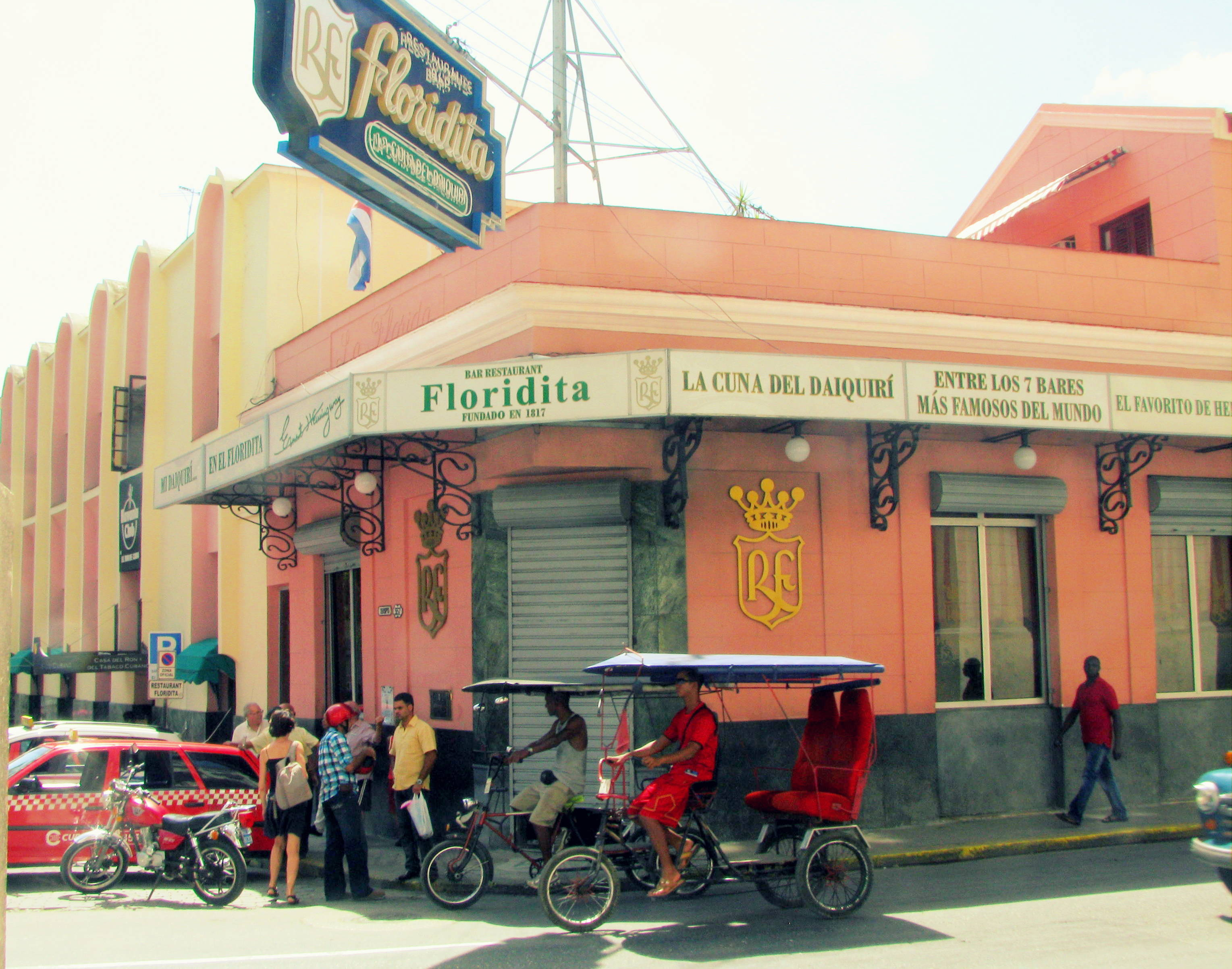 Floridita, one of the favourite hangouts of Ernest Hemingway in Havana.