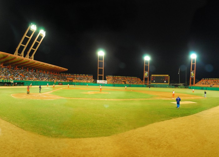 Estadio Augusto César Sandino is a multi-use stadium in Santa Clara, Cuba. It is currently used mostly for baseball games and is the home stadium of Villa Clara Naranjas. The stadium holds 20,000 people.