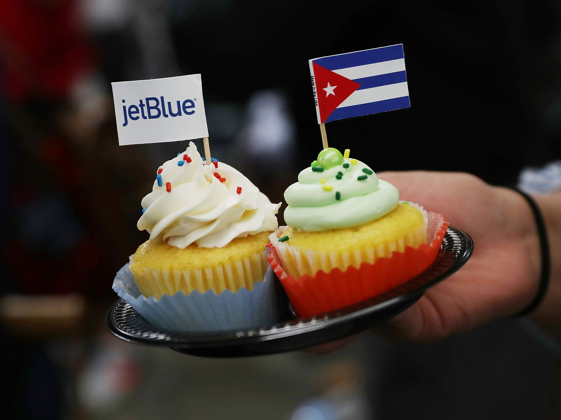 Cuban pastries prepared for the inauguration of regular flights between U.S. and Cuba. Photo by USA Today.