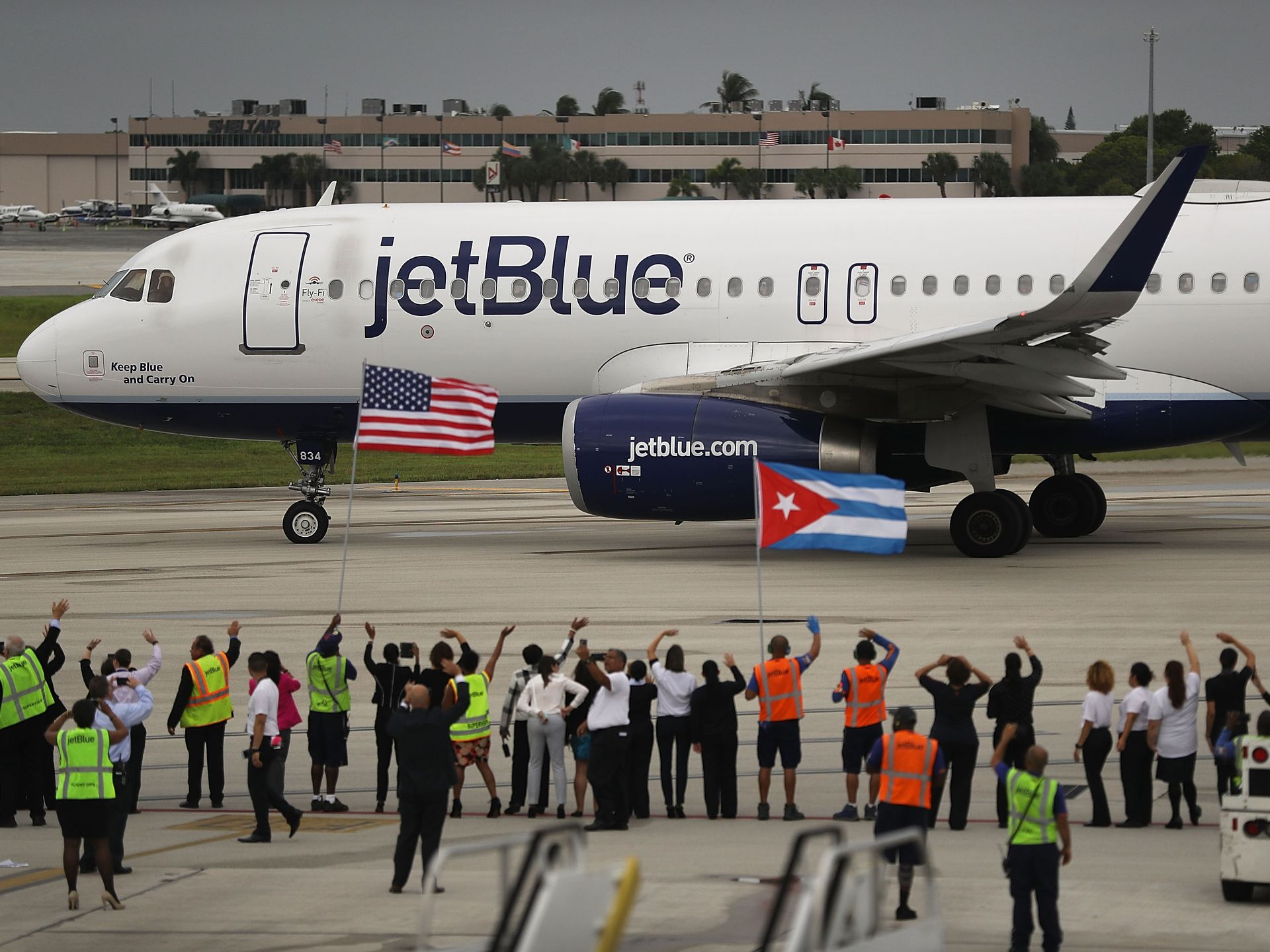 First U.S. commercial flight to Cuba since 1961. Photo by USA Today.
