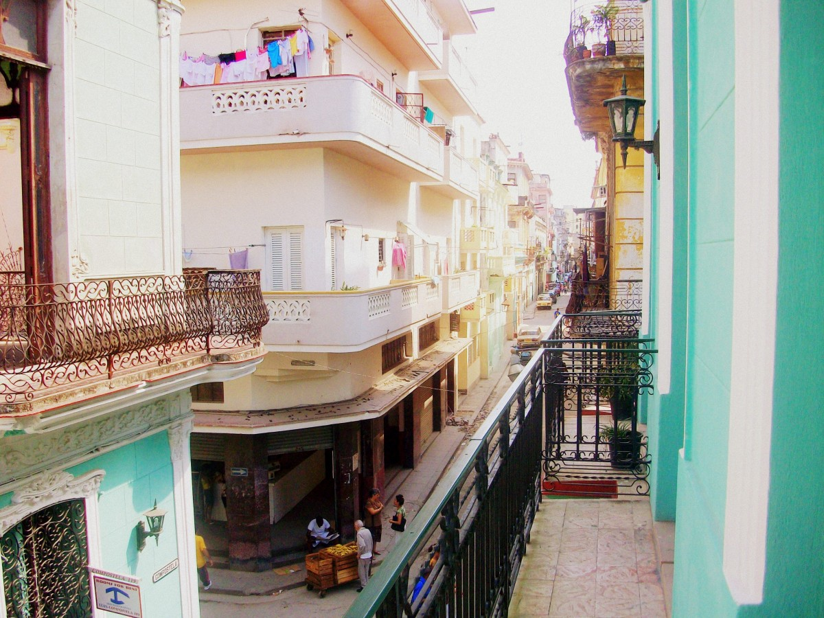 View from the the balcony at Casa Colonial Tere in Havana.
